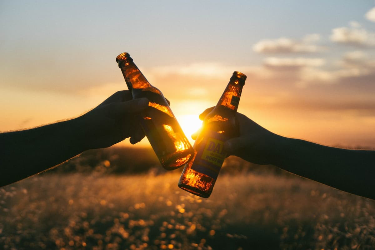 Drinking Outside During sunset